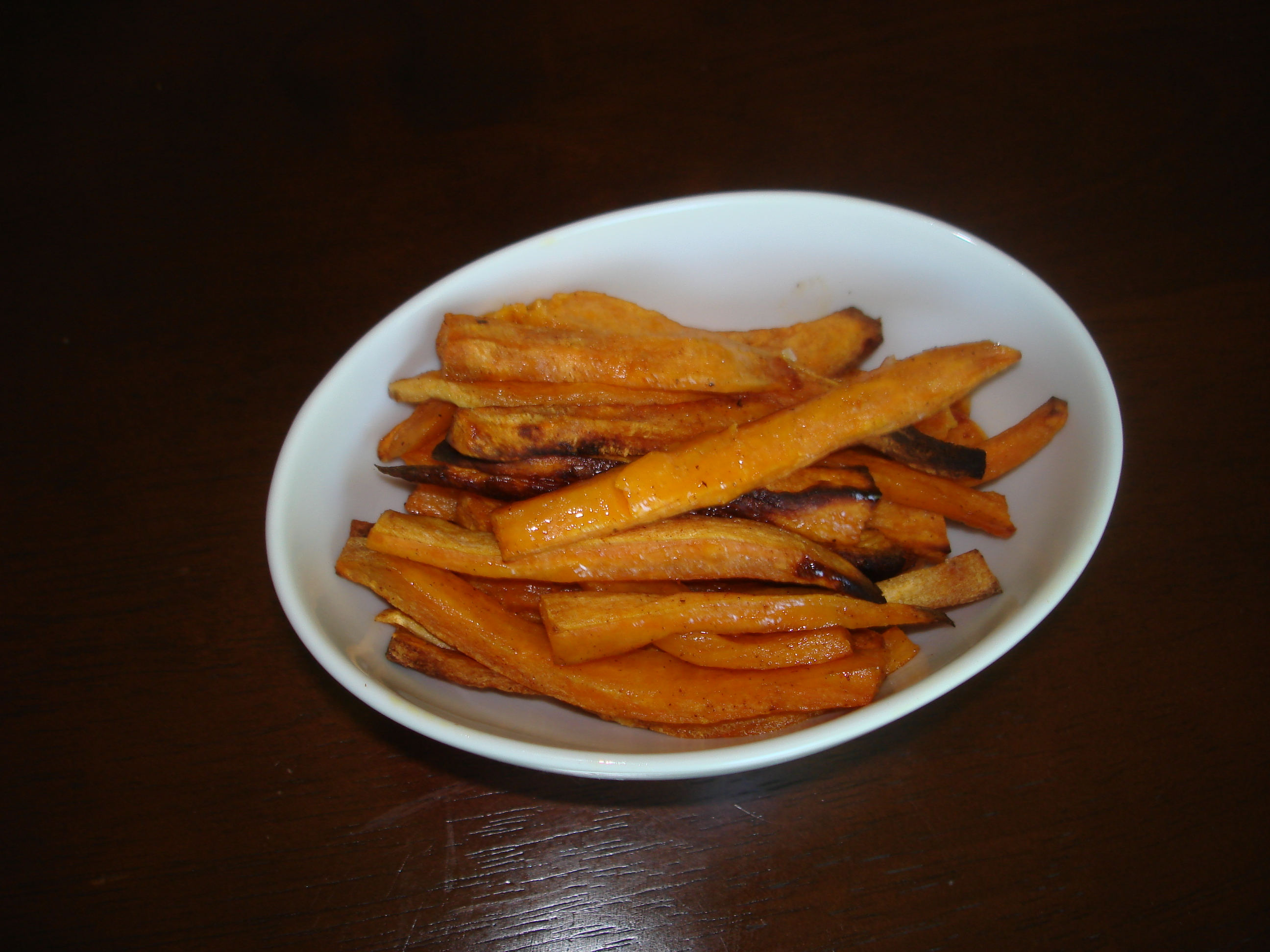 how to cut sweet potatoes into french fries