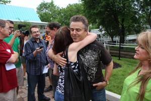 "I am hugging ""Peter Brady""!!!!!!!!!!"