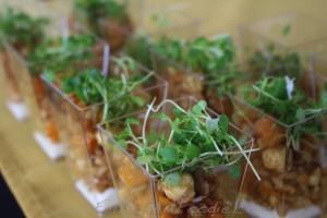 "Davanti Enoteca: Roast Squash & Farro Salad"" hazelnuts + goat cheese + cider vinegar"