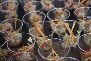 Tavernita: Shrimp ceviche, yuzu, cucumber taro chips