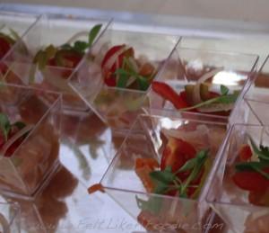 NoMi Kitchen: Smoked Marlin Ceviche, tomato vinaigrette, pickled jalepeno