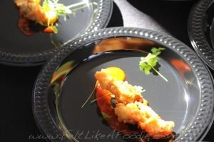 Mercat a la planxa: Crispy clam , saffron aioli