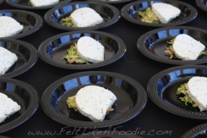 Courtright's Restaurant: Goat cheese terraine, sliced brussel sprouts and dill dressing