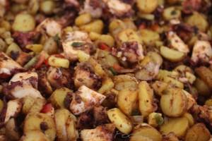Libertad: Spanish octopus, fingerling potatoes, grape tomatoes, lemon vinaigrette