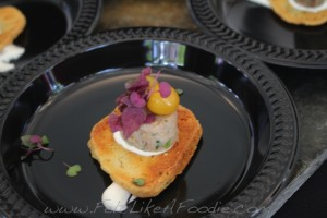 Quay Restaurant & Bar: Duck Rillette with goat cheese and ground cherries