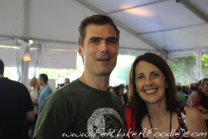 Hugh Acheson of Top Chef Master's (My voice went up at least 2 octaves because I was so excited to meet him!)