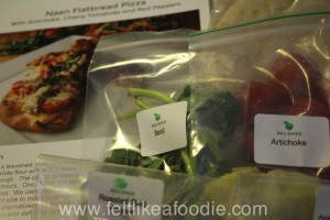Here is an example of how the food is portioned out.  It really made dinner easy.