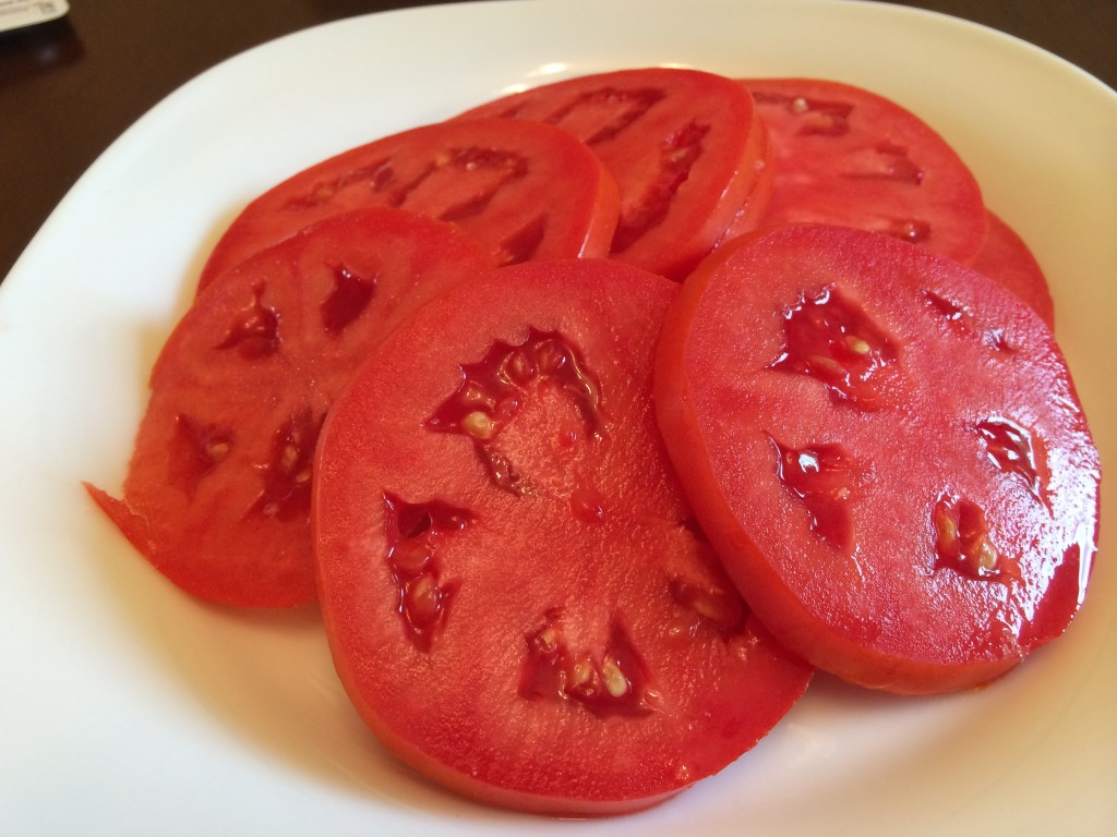 Now THIS is a garden fresh tomato!