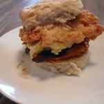 Chicken and egg biscuit with bacon!