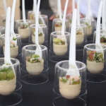 Tim Graham-Travelle, White gazpacho panna cotta with shrimp escabeche