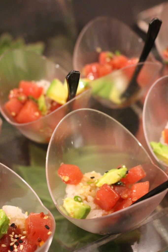 HUB 51 made one of my favorite dishes of the night, Tuna Poke.