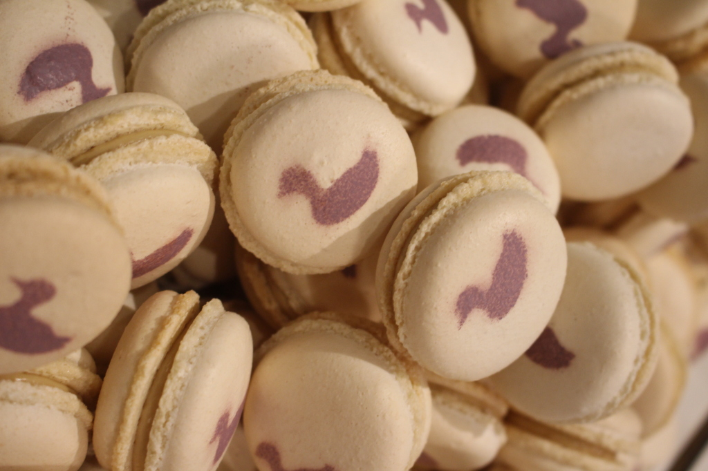 Savory foie gras macarons were absolutely delicious from Cafe des Architectes