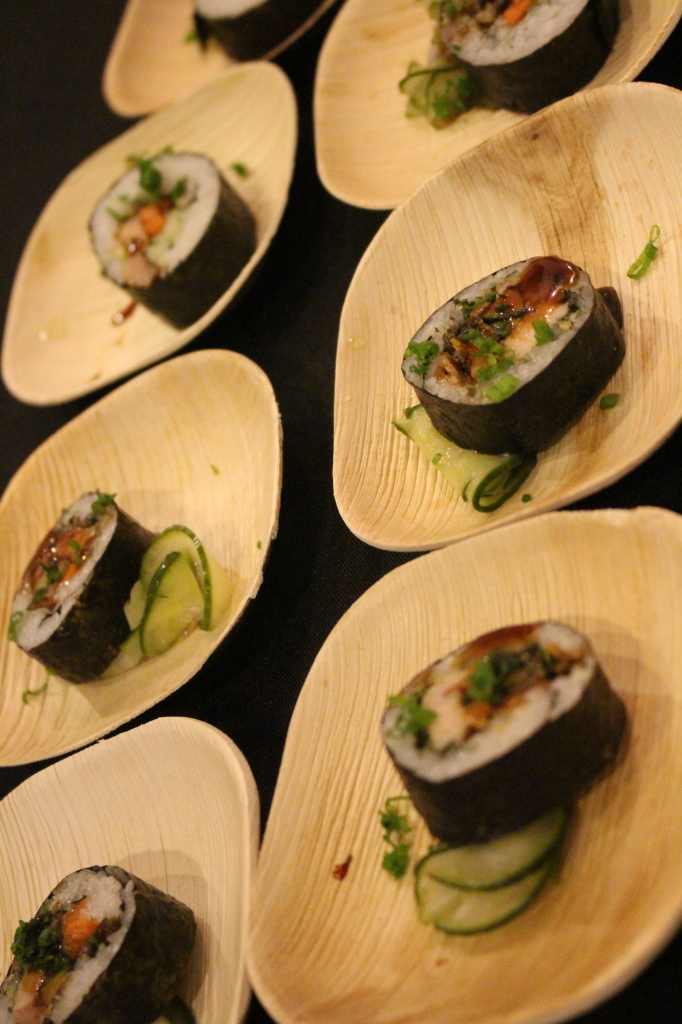 The Chopping Block sure did represent with a Terriyaki Pork Belly, Crispy Salmon Skin Maki