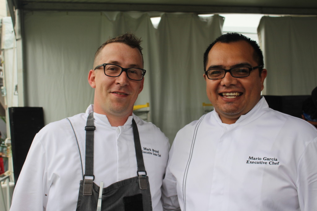 More chefs I want to hug...Chefs Mark Brand and Mario Garcia of 720 South Bar & Grill in the Hilton.