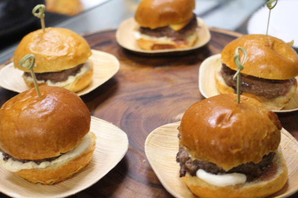 Kinmont's Burger Slider made with bone marrow, smoked gouda, mayo, pickles and grilled romaine