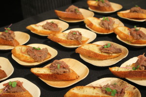 Marion Street Cheese Market Braised Beef crostinis with marmalade shallots and micro radish was also a group favorite.