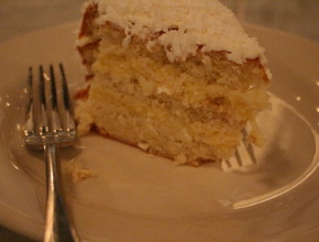 Don't forget to save room for Coconut Cake…as you can see I dived in before I took a good picture!